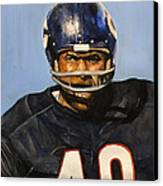 Gale Sayers Canvas Print by Michael  Pattison