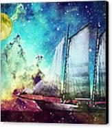Galileo's Dream - Schooner Art By Sharon Cummings Canvas Print by Sharon Cummings
