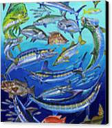 Gamefish Collage In0031 Canvas Print by Carey Chen