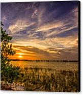 Gandy Lagoon Canvas Print by Marvin Spates