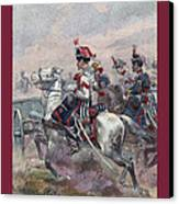 Garde Imperiale 1857 With Fgb Border Canvas Print by A Morddel