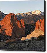 Garden Of The Gods Canvas Print by Aaron Spong
