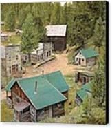 Garnet In Montana Canvas Print by Guido Borelli