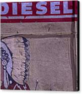 Gas Station Indian Chief Canvas Print by Garry Gay
