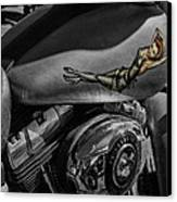 Gas Tank Pin Up Girl Canvas Print by Jeff Swanson