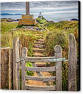 Gate To Holy Island  Canvas Print by Adrian Evans