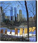 Gates Of New York Canvas Print by Marlene Book