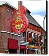 Gatlinburg Hard Rock Cafe Canvas Print by Frozen in Time Fine Art Photography