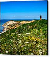 Gay Head Light And Cliffs Canvas Print by Mark Miller