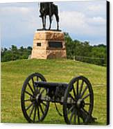 General Meade Monument And Cannon Canvas Print by James Brunker