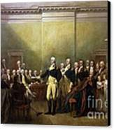 General Washington Resigning His Commission Canvas Print by Pg Reproductions