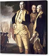 Generals At Yorktown, 1781 Canvas Print by Granger