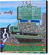 Geno At Wrigley 2014 Canvas Print by Mike Nahorniak