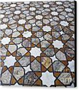Geometric Marble Floor Design At Lahore Fort Canvas Print by Robert Preston