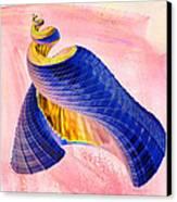 Geometric Shell Art Canvas Print by Deborah Benoit