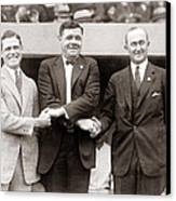 George Sisler Babe Ruth Ty Cobb Canvas Print by Unknown