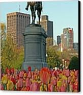 George Washington At The Boston Public Garden Canvas Print by Juergen Roth