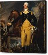 George Washington Before The Battle Of Trenton Canvas Print by John Trumbull