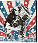 George Washington - Boombox Canvas Print by Pixel Chimp