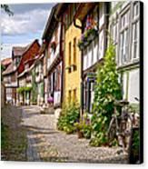 German Old Village Quedlinburg Canvas Print by Heiko Koehrer-Wagner