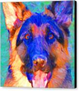 German Shepard - Painterly Canvas Print by Wingsdomain Art and Photography