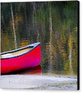 Getaway Canoe Canvas Print by Carolyn Marshall
