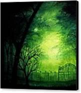 Ghastly Gate Canvas Print by Erin Scott
