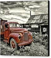 Ghost Town Truck Canvas Print by Robert Jensen