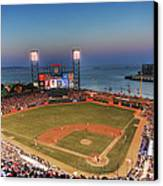 Giants Ballpark At Night Canvas Print by Shawn Everhart