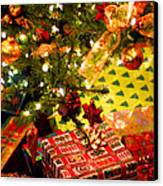 Gifts Under Christmas Tree Canvas Print by Elena Elisseeva