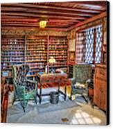 Gillette Castle Library Canvas Print by Susan Candelario