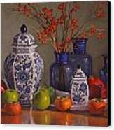 Ginger Jars Canvas Print by Sarah Blumenschein