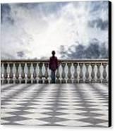 Girl On A Terrace Canvas Print by Joana Kruse