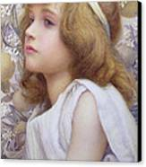 Girl With Apple Blossom Canvas Print by Henry Ryland