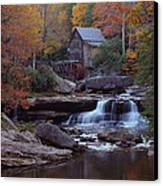 Glade Creek Grist Mill In Autumn Canvas Print by Jetson Nguyen