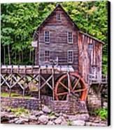 Glade Creek Grist Mill Canvas Print by Steve Harrington