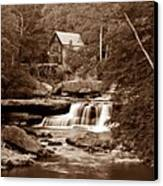Glade Creek Mill In Sepia Canvas Print by Tom Mc Nemar