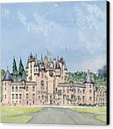 Glamis Castle Tayside  Canvas Print by David Herbert
