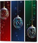 Glass Bauble Banners Canvas Print by Jane Rix