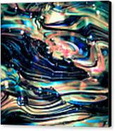 Glass Macro Abstract Rpoce Canvas Print by David Patterson