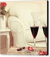 Glasses Of Red Wine Canvas Print by Amanda And Christopher Elwell