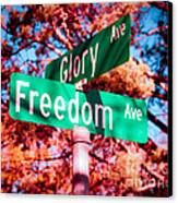 Glory Signs Canvas Print by Sonja Quintero