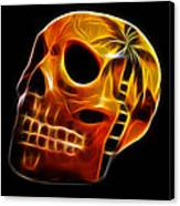 Glowing Skull Canvas Print by Shane Bechler
