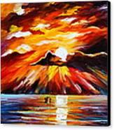Glowing Sun Canvas Print by Leonid Afremov
