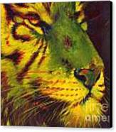 Glowing Tiger Canvas Print by Summer Celeste