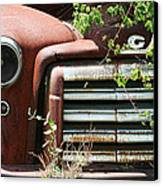 Gmc Grill Work Canvas Print by Kathy Clark