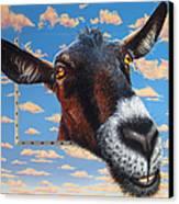 Goat A La Magritte Canvas Print by Jurek Zamoyski