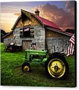 God Bless America Canvas Print by Debra and Dave Vanderlaan