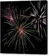 God Bless America Fireworks Canvas Print by Christina Rollo