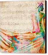 Goddess Of Music Canvas Print by Nikki Smith